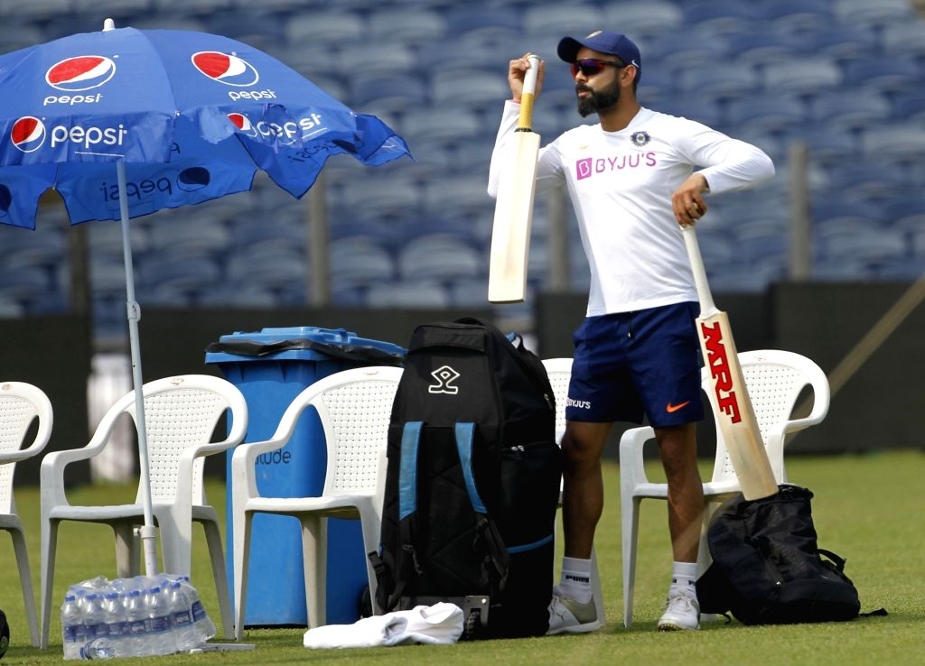 Indian skipper Virat Kohli during a practice session ahead of the 2nd Test match between India and South Africa, at Maharashtra Cricket Association Stadium in Pune, on Oct 9, 2019. - Virat Kohli