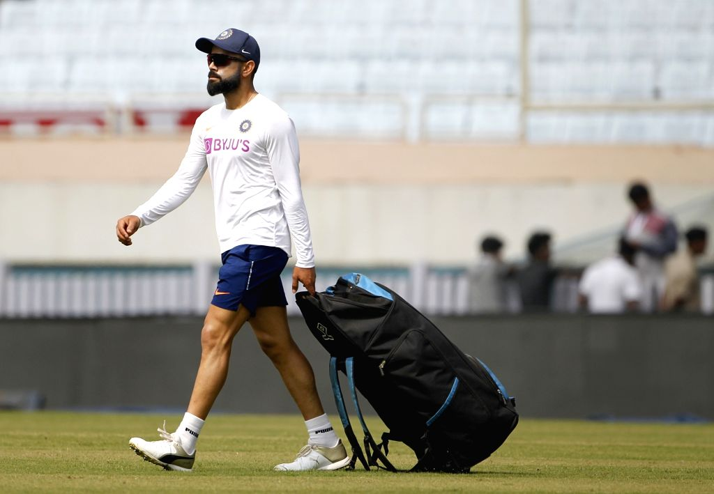 Indian skipper Virat Kohli during a practice session ahead of the 3rd Test match against South Africa at JSCA International Stadium in Ranchi on Oct 18, 2019. - Virat Kohli