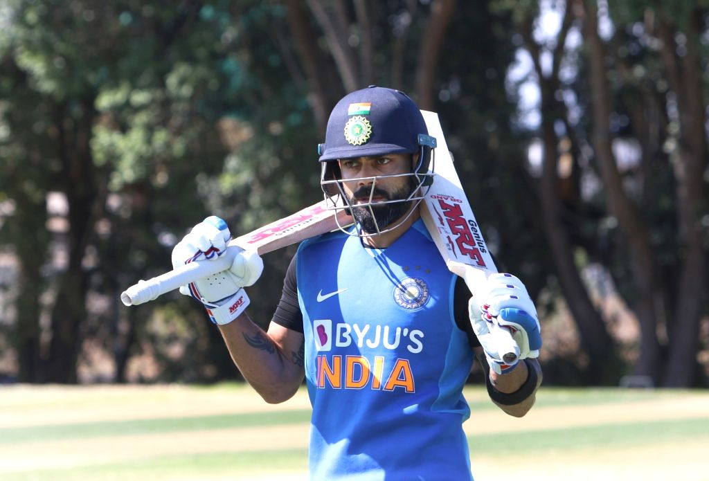Indian skipper Virat Kohli during a practice session ahead of the 3rd ODI against New Zealand, at the Bay Oval in Tauranga, New Zealand on Feb 10, 2020. - Virat Kohli