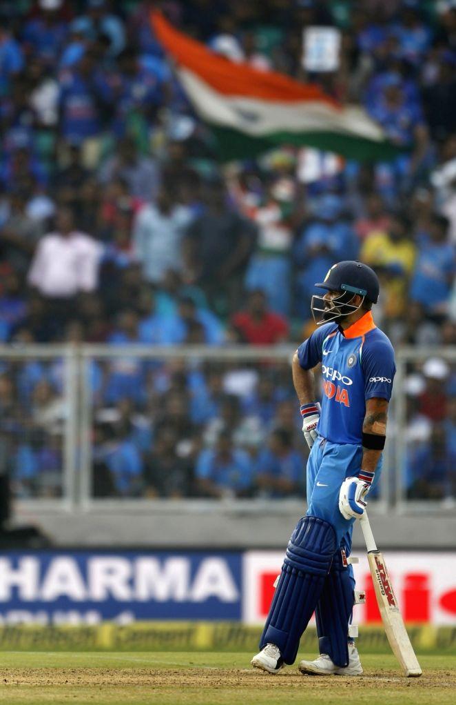Indian skipper Virat Kohli during the fifth and final ODI match between India and West Indies in Thiruvananthapuram, on Nov. 1, 2018. - Virat Kohli
