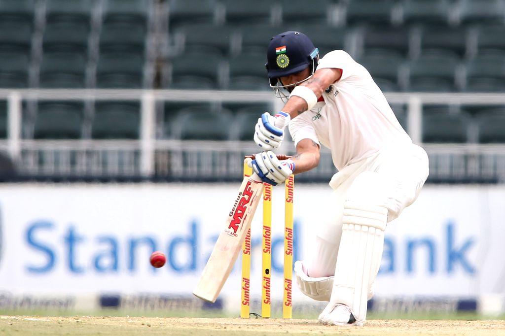 Indian skipper Virat Kohli in action during Day 1 of the third Test match between South Africa and India at the Wanderers Stadium in Johannesburg, South Africa on Jan 24, 2018. - Virat Kohli