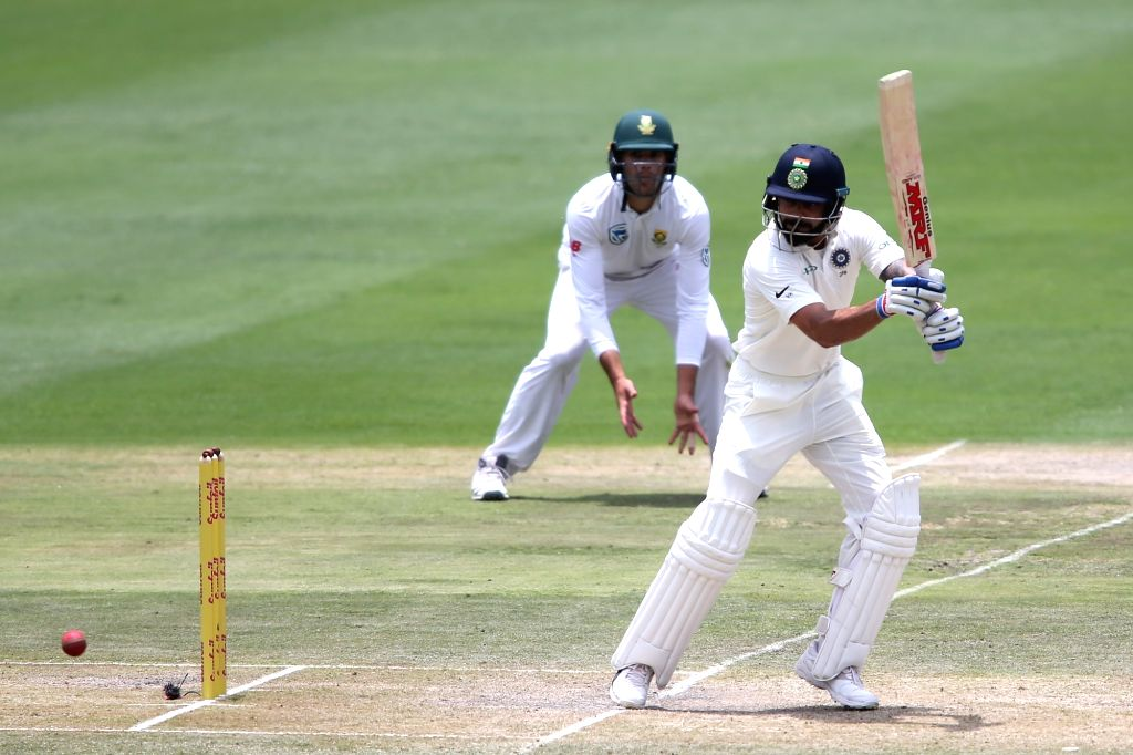 Indian skipper Virat Kohli in action during Day 3 of the third Test match between South Africa and India at the Wanderers Stadium in Johannesburg, South Africa on Jan 26, 2018. - Virat Kohli