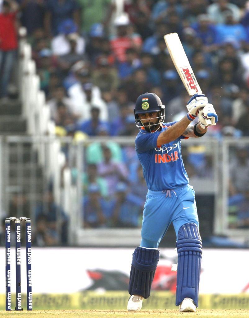 Indian skipper Virat Kohli in action during the fifth and final ODI match between India and West Indies in Thiruvananthapuram, on Nov. 1, 2018. - Virat Kohli