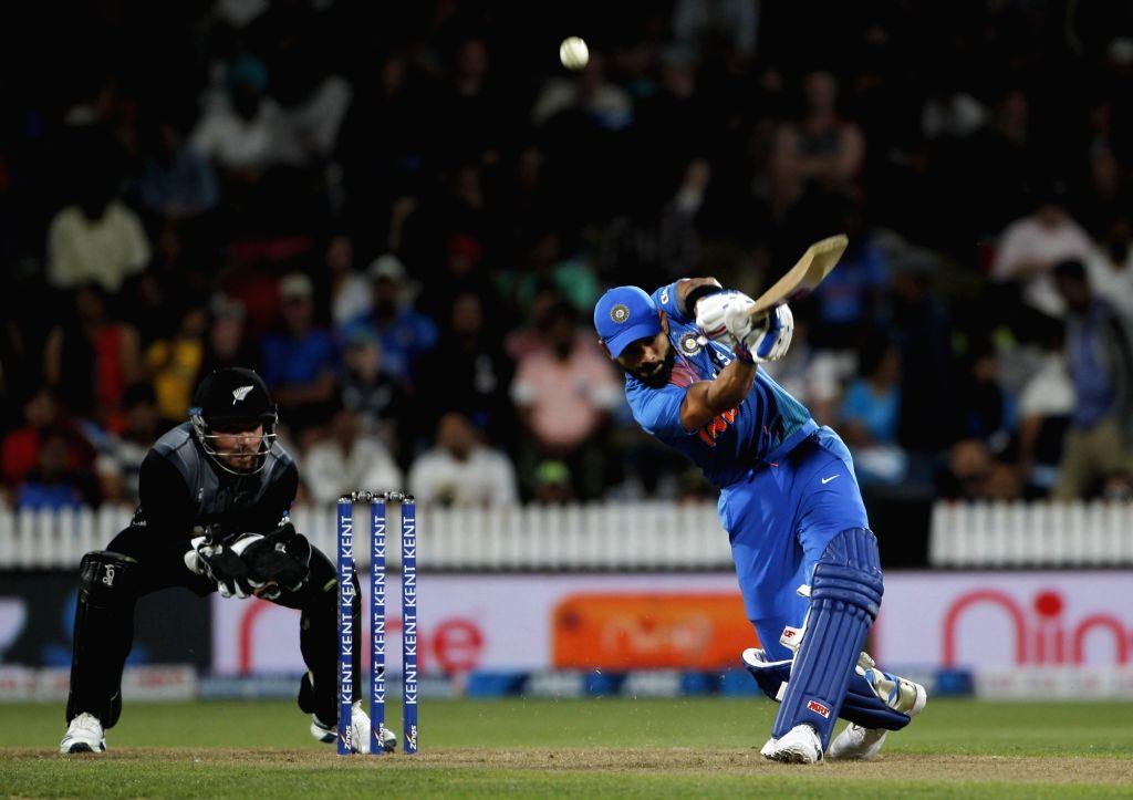 Indian skipper Virat Kohli in action during the third T20I of the five-match rubber at Seddon Park in Hamilton, New Zealand on Jan 29, 2020. - Virat Kohli