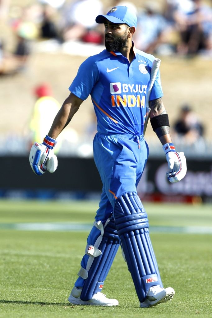 Indian skipper Virat Kohli walks back to the pavilion after getting dismissed during the 1st ODI of the three-match series between India and New Zealand at the Seddon Park in Hamilton, New ... - Virat Kohli
