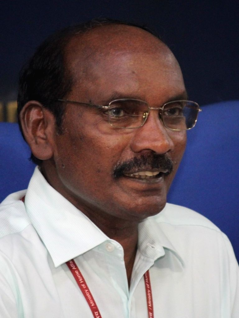Indian Space Research Organisation (ISRO) Chairman K. Sivan during a press conference ahead of the launch of ISRO's second moon mission Chandrayaan-2, in New Delhi on June 13, 2019.