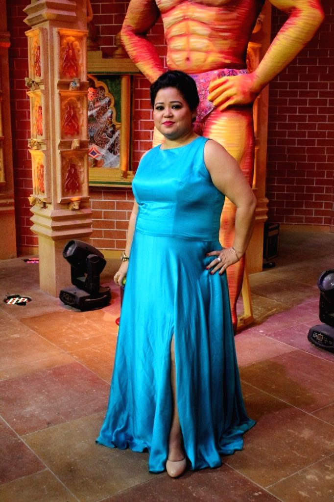 "Indian stand-up comedian Bharti Singh at the launch of ""Comedy Dangal"" - a  television show in Mumbai on Aug 3, 2017. - Bharti Singh"