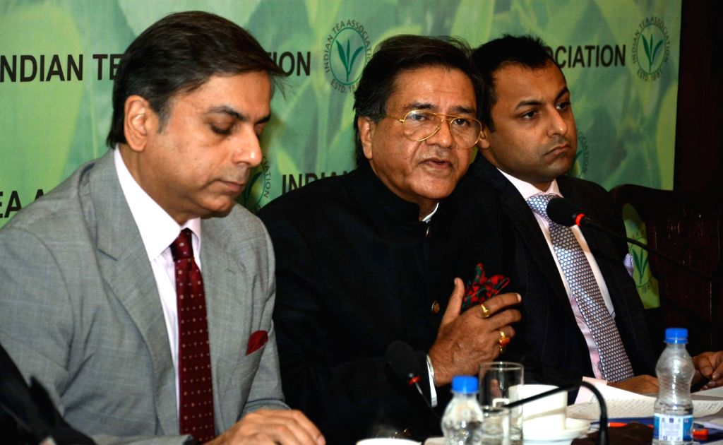 Indian Tea Association Chairman Ashok Kumar Bhargava addresses a press conference in Kolkata on Sept 15, 2016. - Ashok Kumar Bhargava