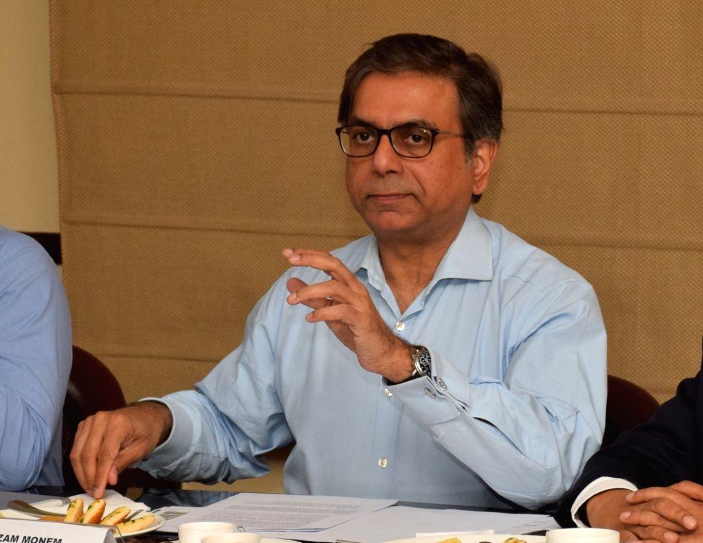 Indian Tea Association Chairman Azam Monem addresses a press conference in Kolkata on July 10, 2018.