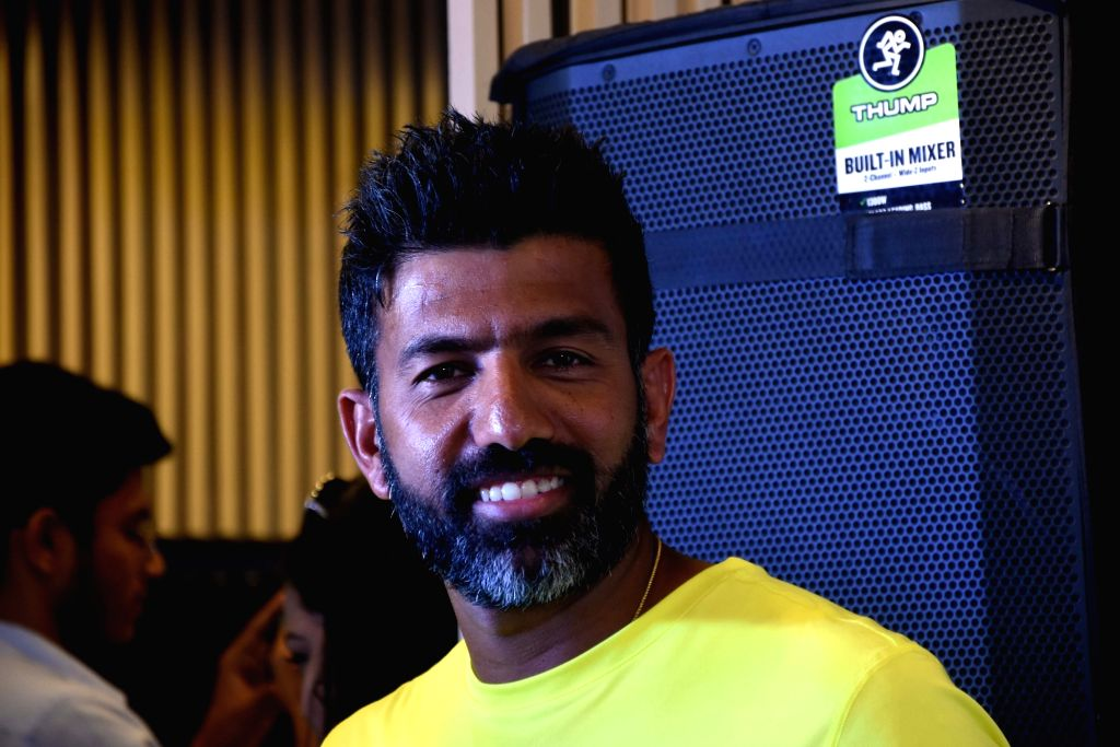 Indian tennis ace Rohan Bopanna during the of launch the 'ASICS Limited Edition GEL-NIMBUS 22' and race day t-shirt for the 'Tata Mumbai Marathon' in Mumbai on Dec 5, 2019. - Rohan Bopanna