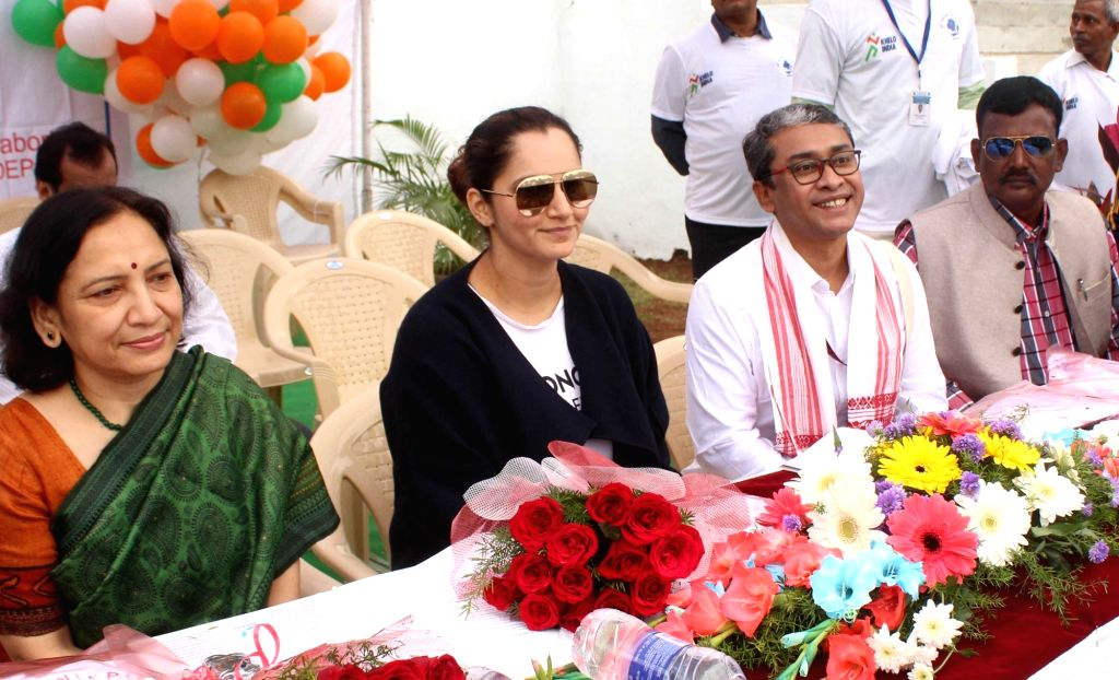 Indian tennis player Sania Mirza during the 35th Annual Day celebrations of National Institute for the Empowerment of Persons with Intellectual Disabilities (NIEPID) in Secunderabad, ... - Sania Mirza