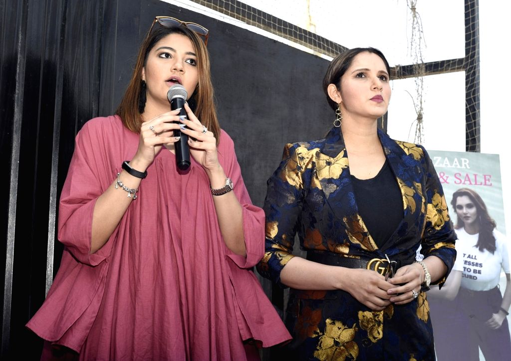 Indian tennis player Sania Mirza's sister Anam Mirza. (Photo: IANS) - Sania Mirza and Anam Mirza