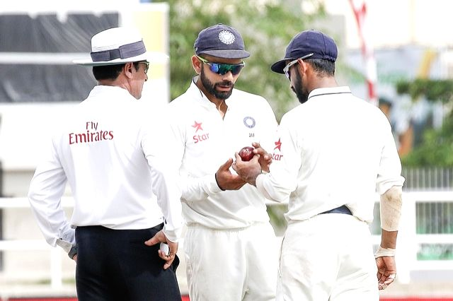 Indian Test captain Virat Kohli during the second test match between India and West Indies at Kingston, Jamaica, on Aug 4, 2016. - Virat Kohli