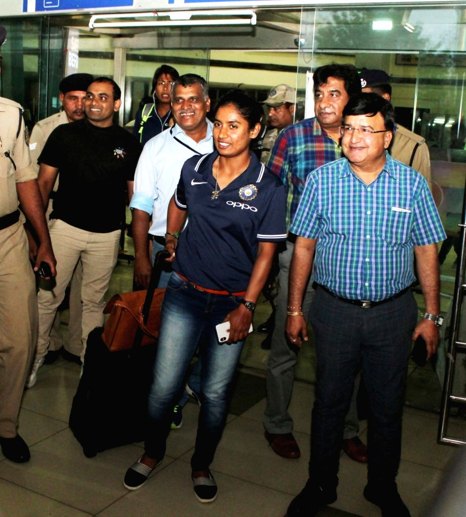 Indian Women's cricket team captain Mithali Raj arrives at Dr. Babasaheb Ambedkar International Airport in Nagpur on April 1, 2018. - Mithali Raj