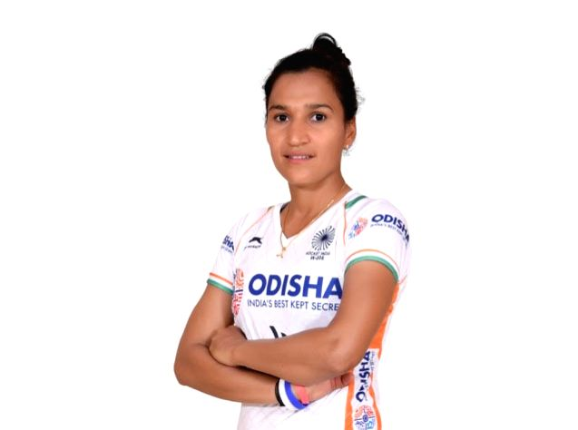 Indian Women's hockey team captain Rani in the new White uniform. Hockey Fans can watch the Manpreet Singh-led Indian Men's team donning the new uniform at the forthcoming FIH Men's Series Finals ... - Rani and Manpreet Singh