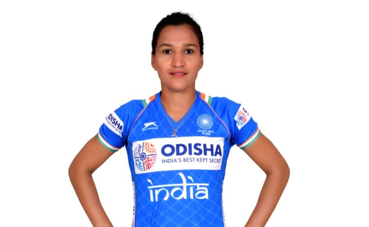 Indian Women's hockey team captain Rani in the new Blue uniform. Hockey Fans can watch the Manpreet Singh-led Indian Men's team donning the new uniform at the forthcoming FIH Men's Series Finals ... - Rani and Manpreet Singh