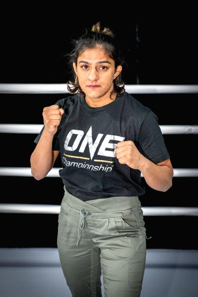 Indian wrestler Ritu Phogat.
