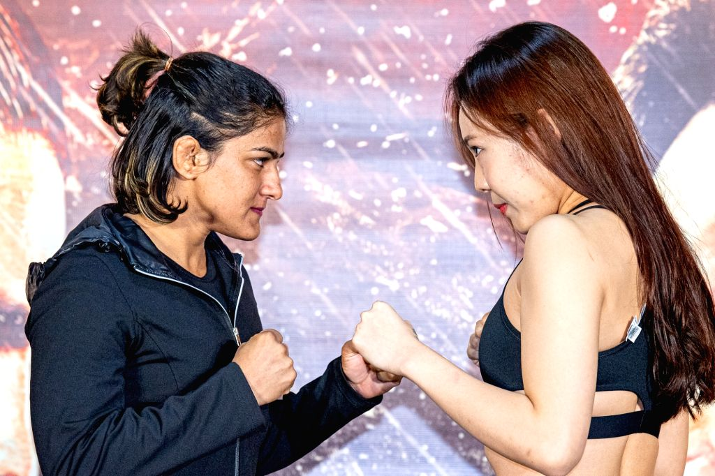 Indian wrestling superstar Ritu Phogat is set to make her professional mixed martial arts debut when she takes on Korea's Nam Hee Kim in an atomweight contest. The pair faced-off on Thursday at an ...