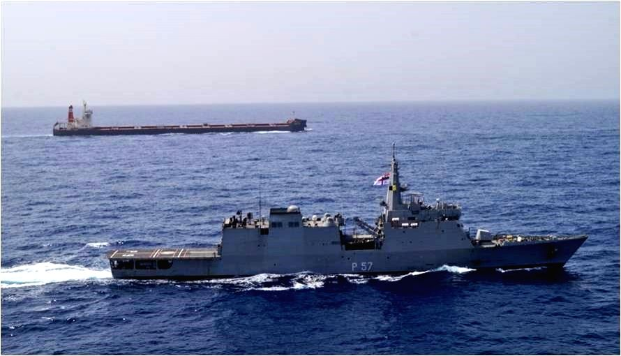 IndianNavy executes 'Operation Sankalp' - Deploys INS Chennai & INS Sunayna in the Gulf of Oman, to re-assure Indian Flagged Vessels operating/ transiting through Persian Gulf & Gulf of Oman following the maritime security incidents in the region; on
