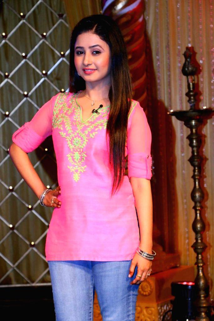 Indira Krishnan as Kumudini during the lauch of new TV Serial 'Krishnadasi' in Colors TV Channel in Mumbai.