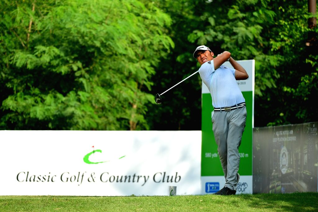 Indonesia's Rory Hie in action during the Classic Golf & Country Club International Championship in Gurugram on Sep 13, 2019.