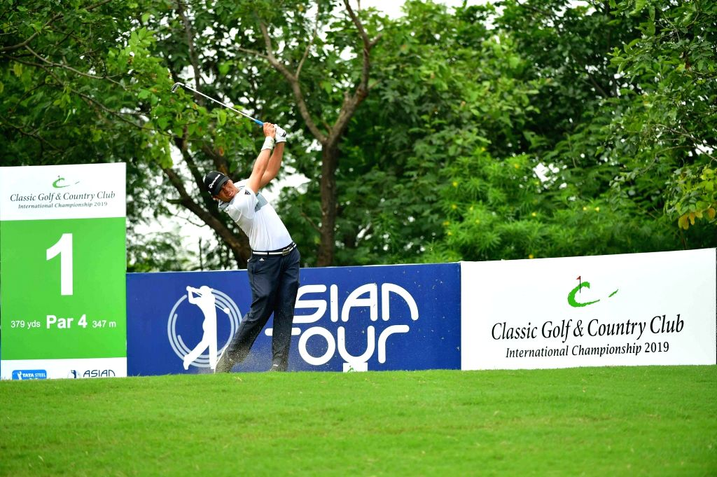 Indonesian golfer Rory Hie in action at the Classic Golf and Country Club International Championship 2019 in Gurugram on Sep 14, 2019.