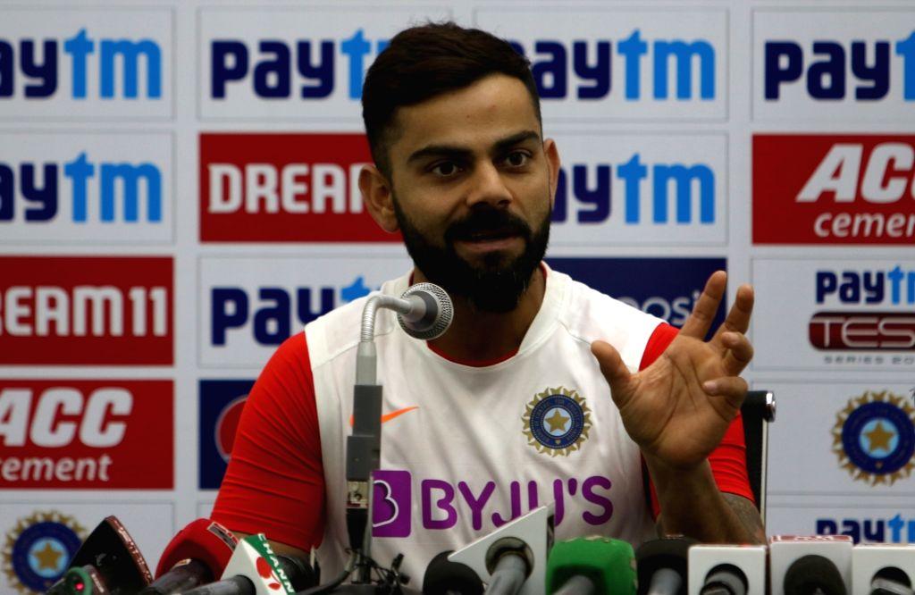 Indore: India skipper Virat Kohli addresses a press conference ahead of the 1st Test match against Bangladesh, at Holkar Cricket Stadium in Indore, Madhya Pradesh on Nov 13, 2019. (Photo: IANS) - Virat Kohli