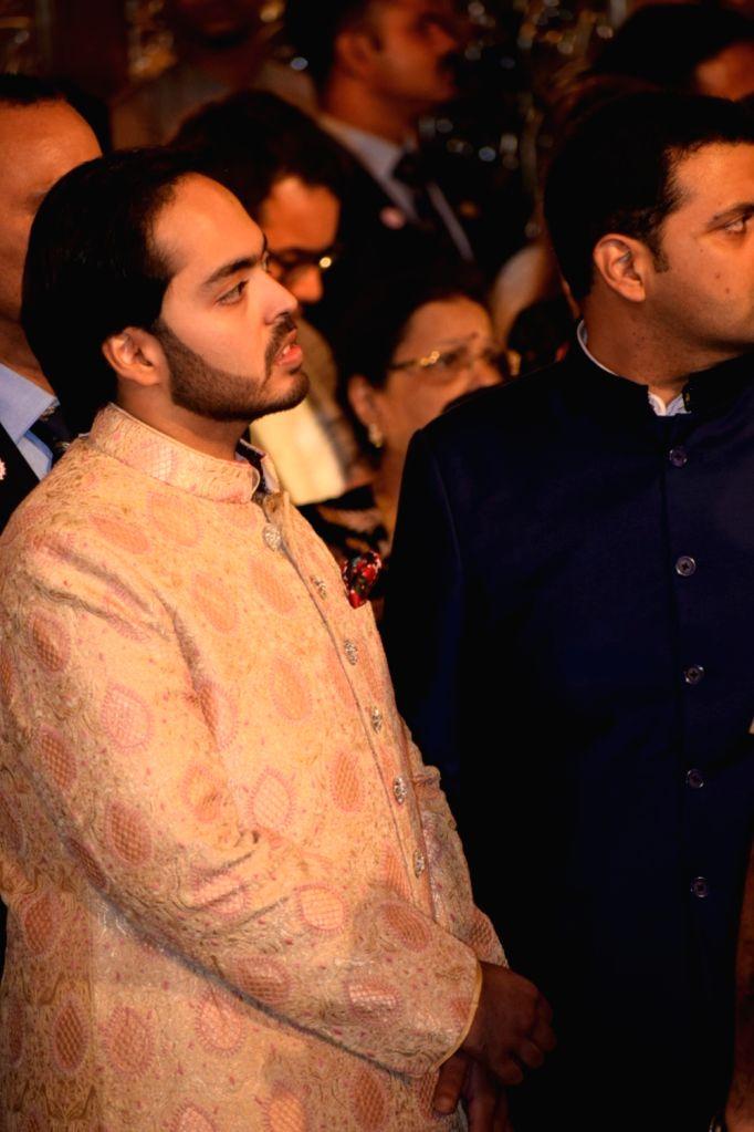 Industrialist Mukesh Ambani's son Anant Ambani at the wedding ceremony of his sister Isha Ambani and Anand Piramal at Antilia in Mumbai on Dec 12, 2018. - Mukesh Ambani, Anant Ambani and Isha Ambani
