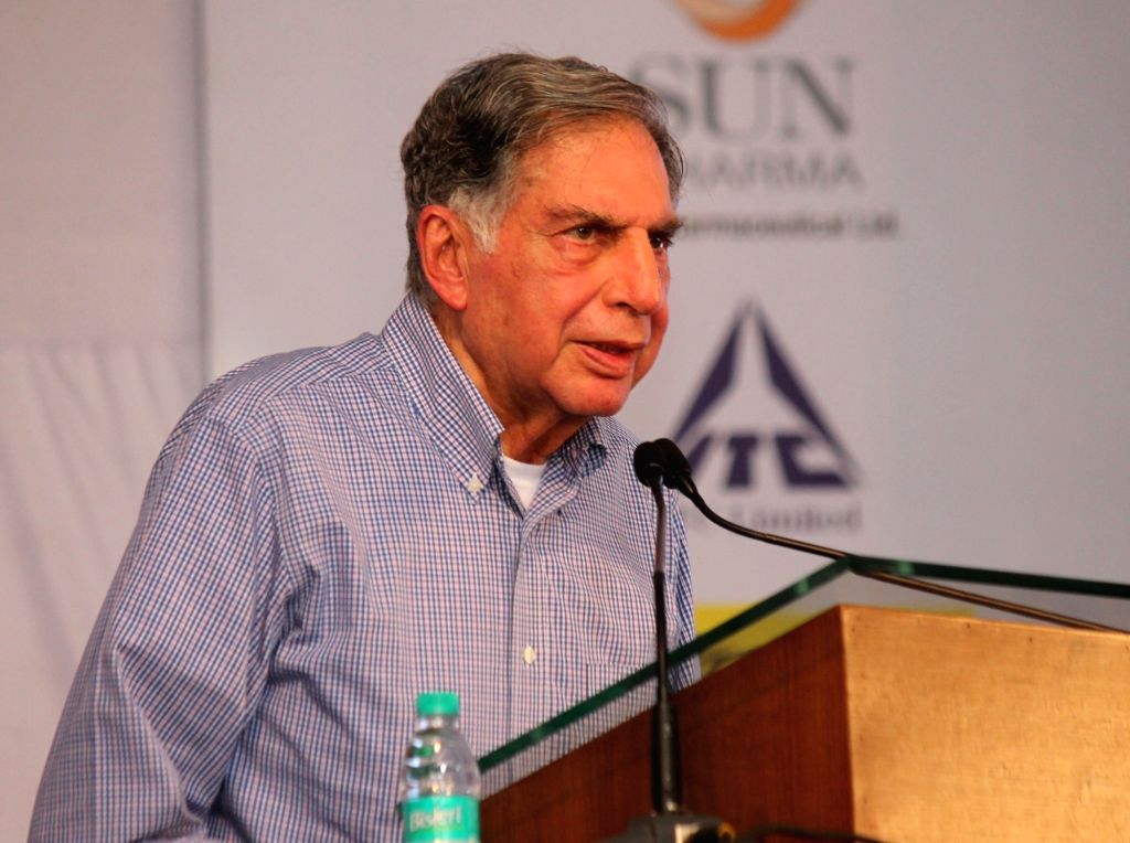 Industrialist Ratan Tata addresses at the launch of Phase 1 of National Cancer Institute at Jamtha in Nagpur on Aug 13, 2017. - Ratan Tata