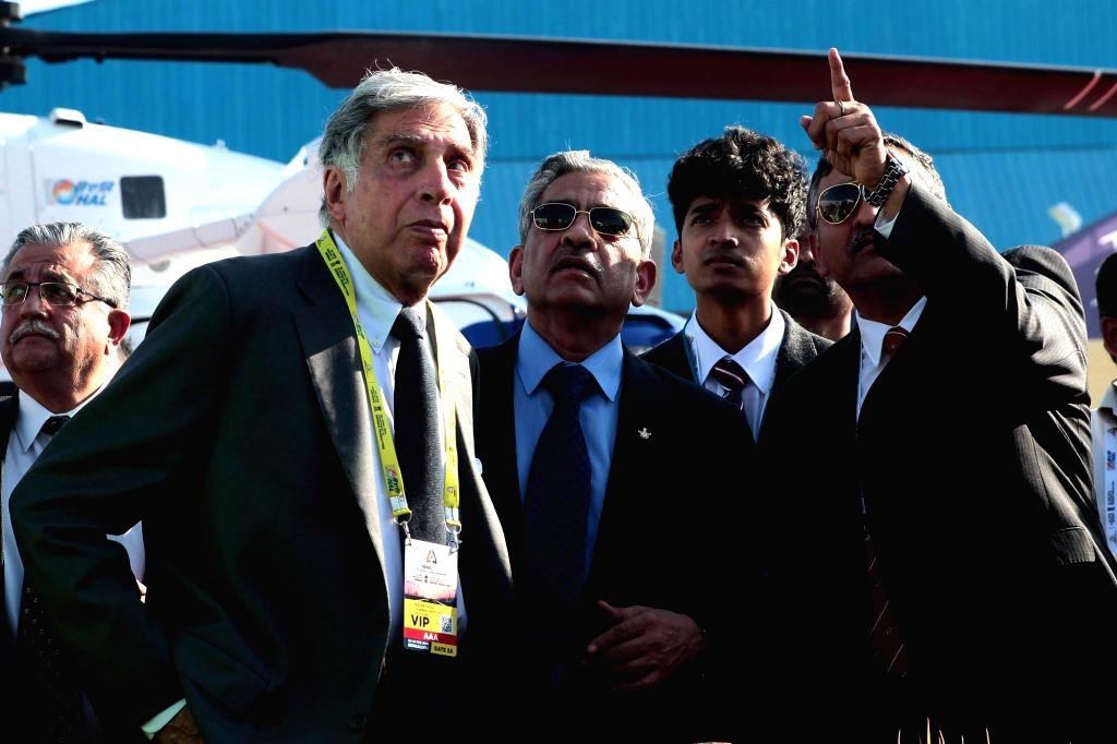 Industrialist Ratan Tata at Aero India 2019 - air show in Bengaluru on Feb 21, 2019. - Ratan Tata