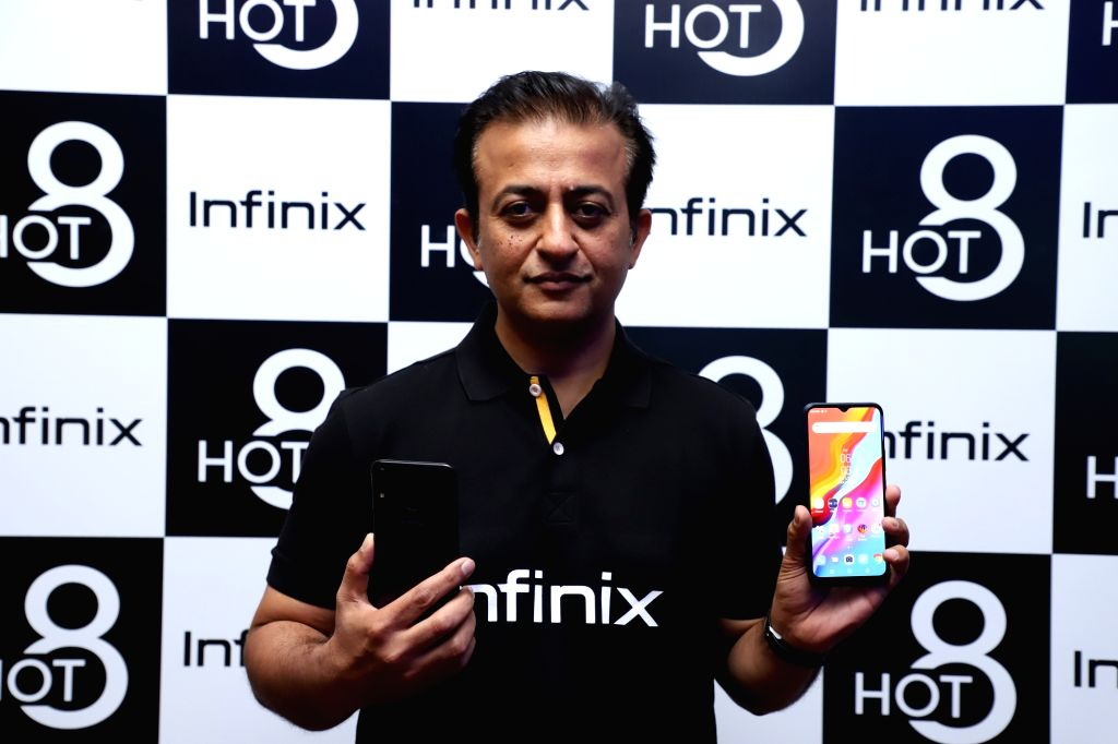 Infinix India CEO Anish Kapoor unveils Infinix Hot 8 smartphone, in New Delhi on Sep 4, 2019. - Anish Kapoor