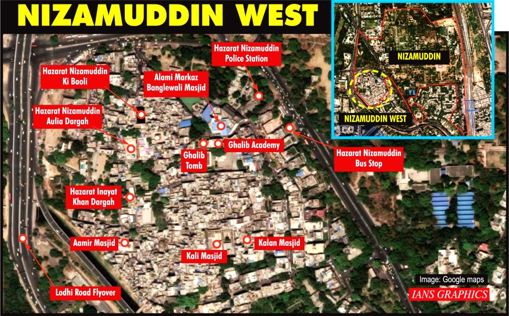 Infographics: Nizamuddin West. (IANS Infographics)