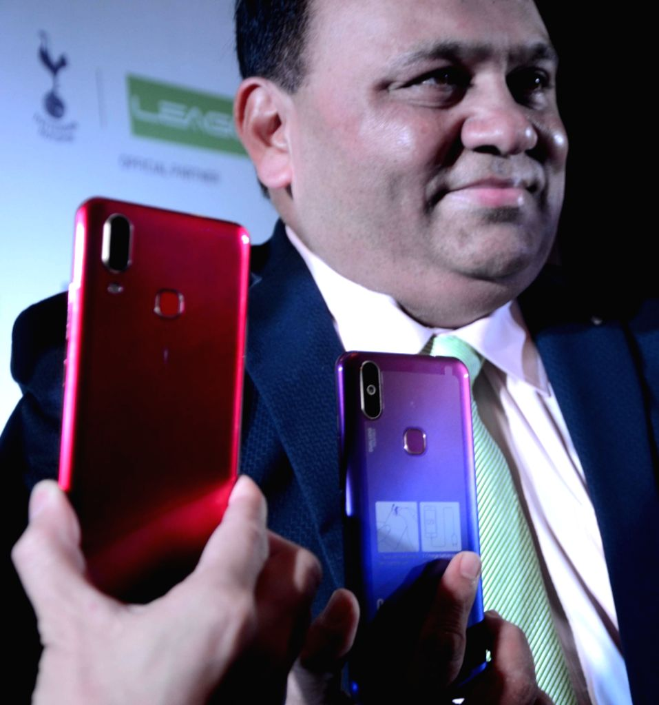 Innovative Ideals and services ltd. Director Maqsood Shaikh at the launch of LEAGOO's smartphones, in Mumbai, on April 26, 2019.
