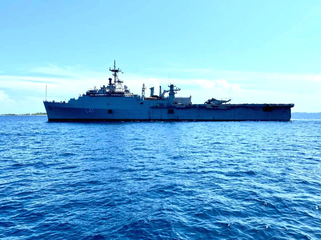 INS Jalashwa reaches Maldives to bring back stranded Indians.