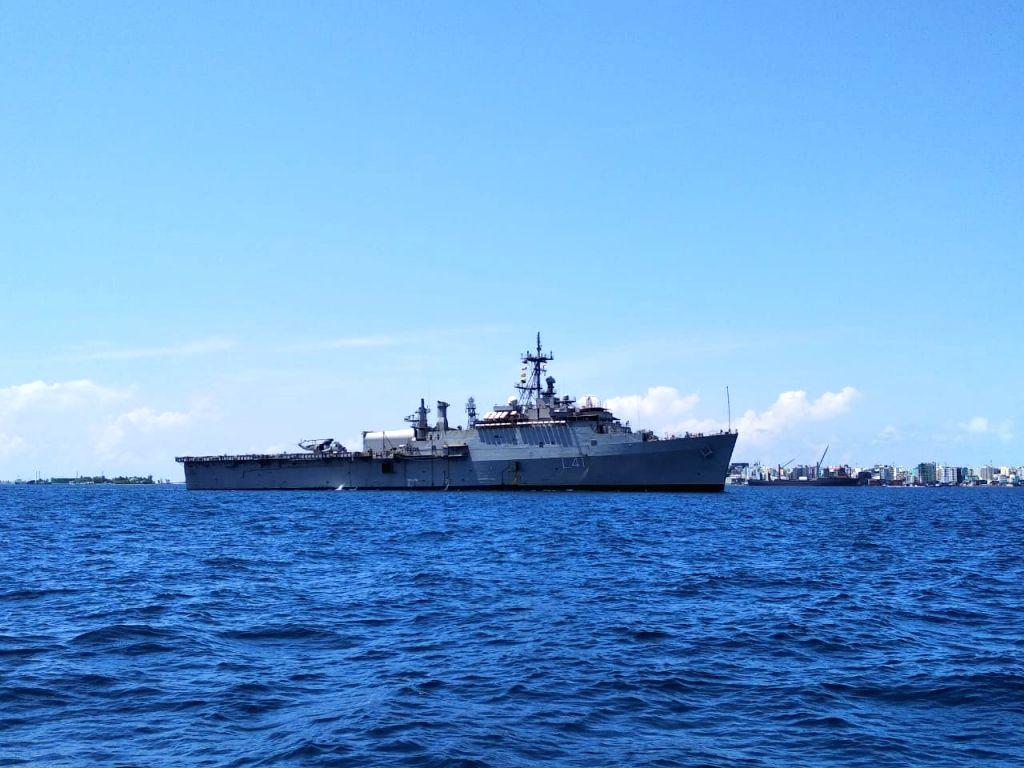INS Jalashwa reaches Maldives to bring back stranded Indians.