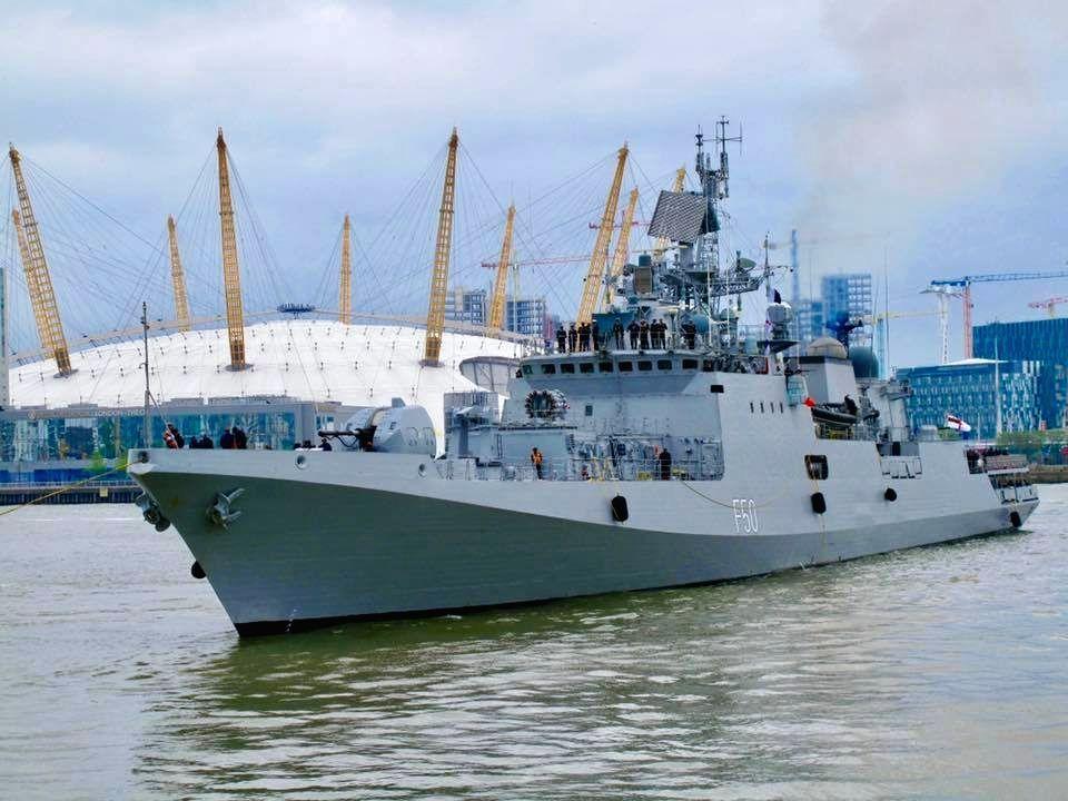 INS Tarkash docked in London.