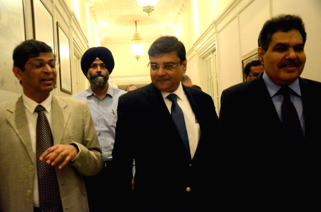 """Insolvency and Bankruptcy Board of India chairman M.S Sahoo in a conversation with Reserve Bank of India Governor Urjit Patel during the """"National Conference on Insolvency and ... - Urjit Patel"""