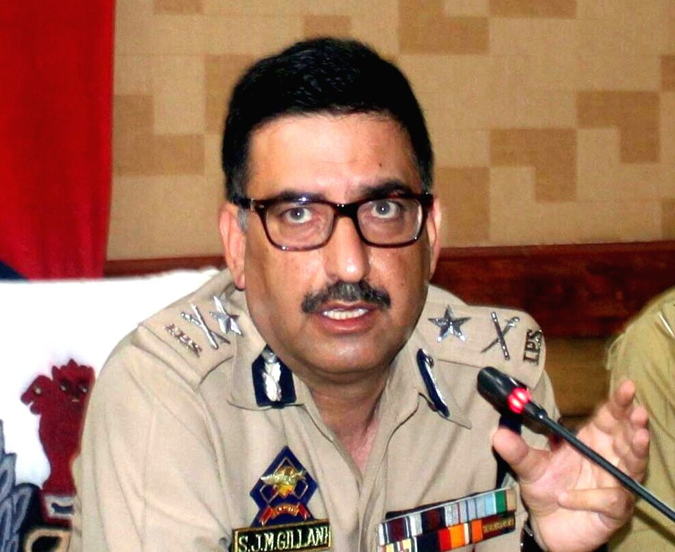 Inspector General of Jammu and Kashmir Police (Kashmir range) Syed Javaid Mujtaba Gilani. (File Photo: IANS)