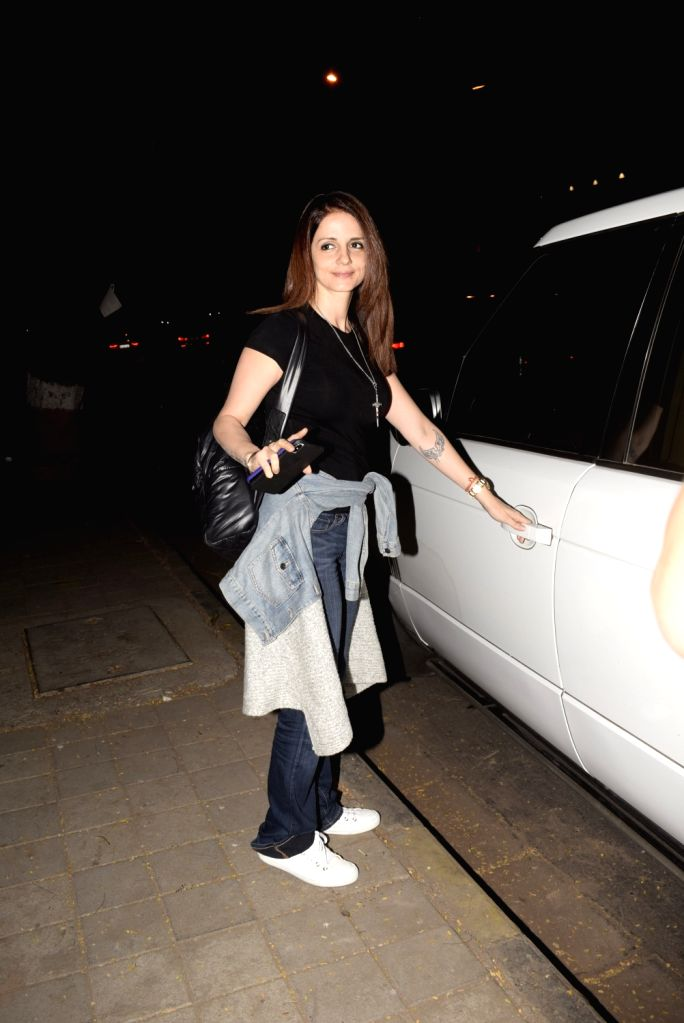 Interior designer and entrepreneur Sussanne Khan seen at Mumba's Juhu, on Feb 12, 2019. - Sussanne Khan