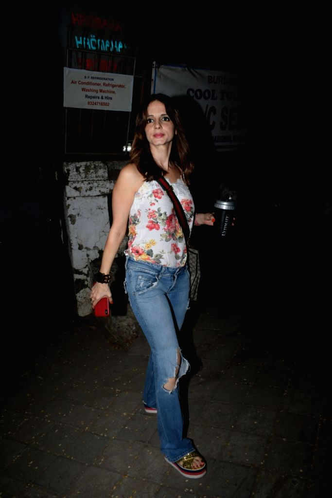 Interior designer and entrepreneur Sussanne Khan seen in Mumbai's Juhu, on May 26, 2019. - Sussanne Khan