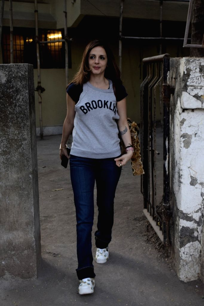 Interior Designer Sussanne Khan seen at a Juhu salon in Mumbai on March. 16, 2019. - Designer Sussanne Khan