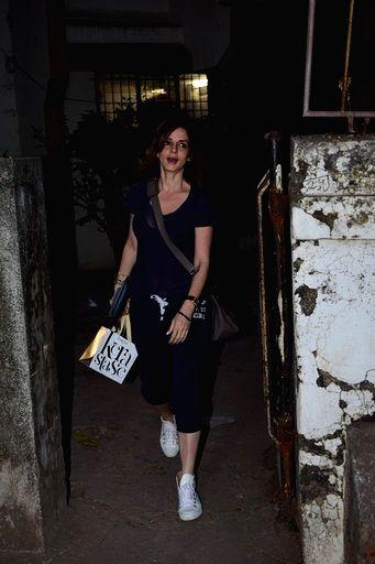Interior designer Sussanne Khan seen at a Juhu salon in Mumbai on March 15, 2020. - Sussanne Khan