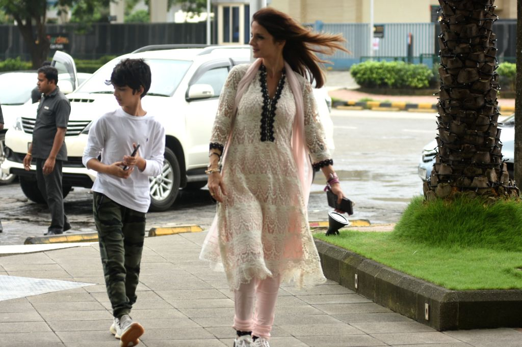 Interior designer Sussanne Khan seen at Bandra Kurla Complex in Mumbai on Aug 10, 2019. - Sussanne Khan