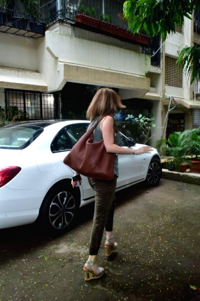 Interior designer Suzanne Khan seen at Juhu in Mumbai on Oct 14, 2020. - Suzanne Khan