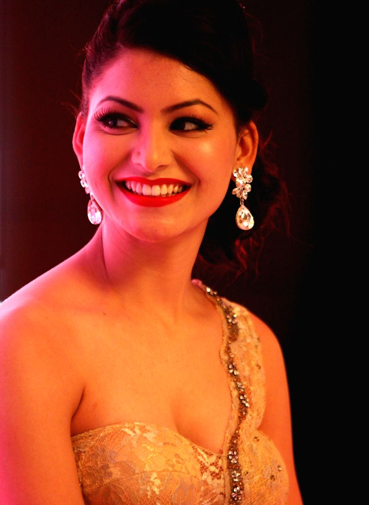 International beauty queen and actress Urvashi Rautela during a programme in Chennai on Dec.8, 2013.