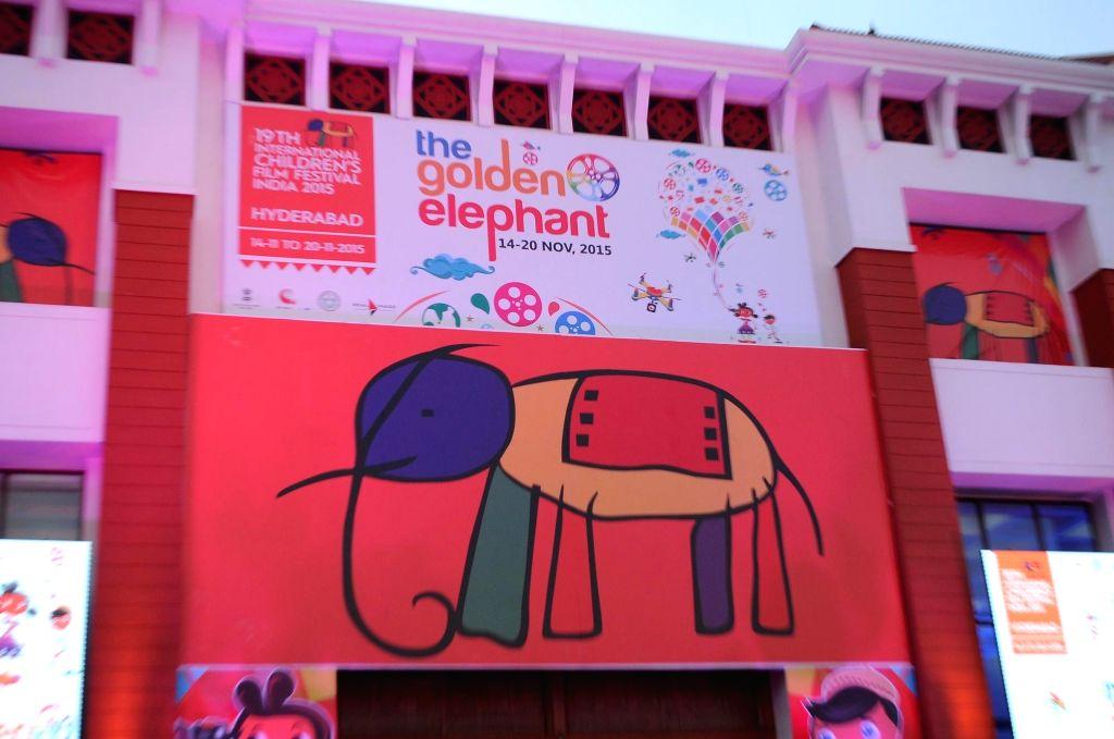 International Children`s Film Festival in Hyderabad on November 15, 2015.