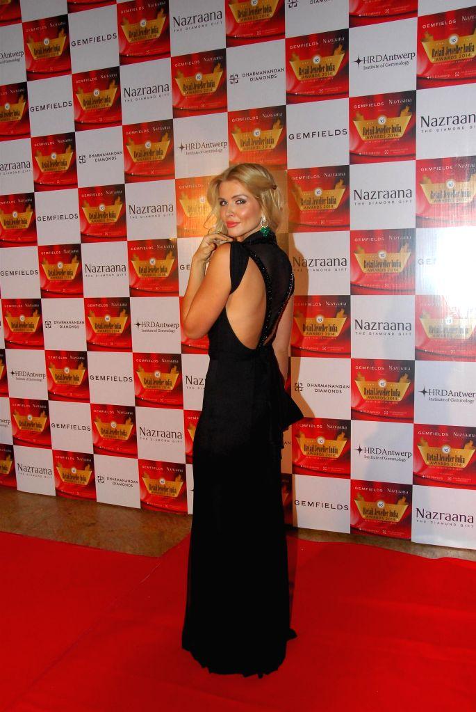 International choreographer Elena Samodanova during the 10th Annual Gemfields and Nazraana Retail Jeweller India Awards 2014 in Mumbai on July 19, 2014. (Photo : IANS)