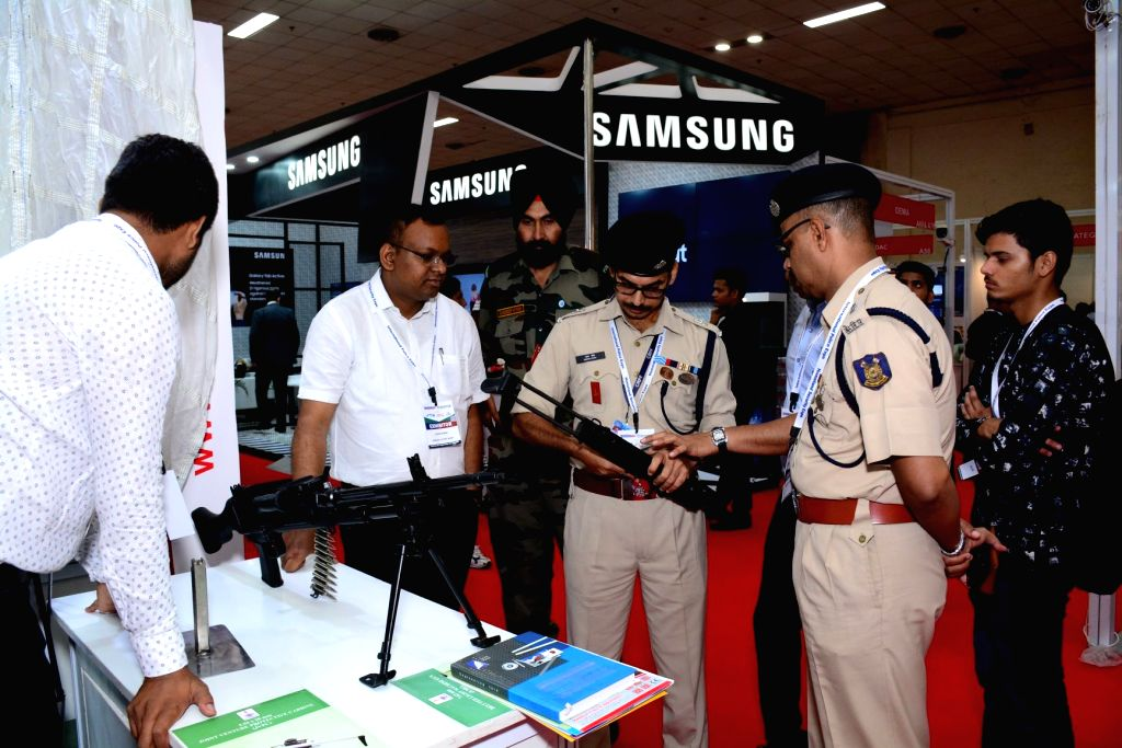 International Police Expo 2019 underway at Pragati Maidan, in New Delhi on July 19, 2019. ing manufacturers and technology players from Singapore, Israel, Korea, Taiwan, China, UK, ...