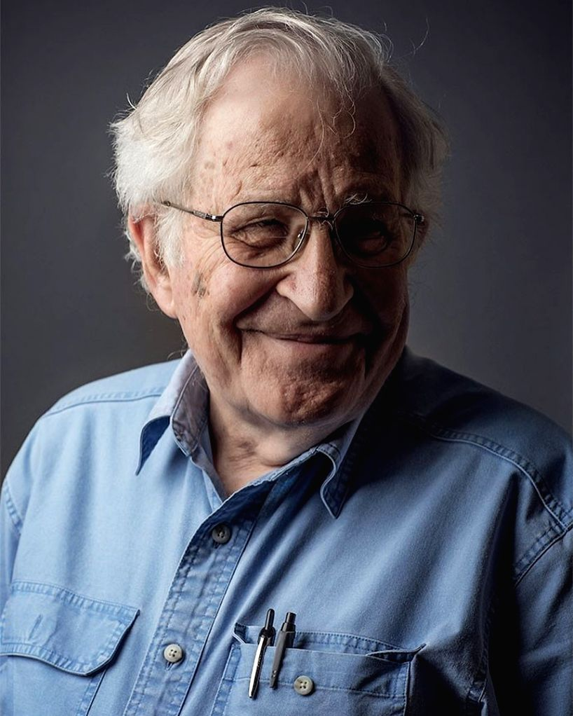 Internationally renowned American linguist, philosopher, historian and social critic Noam Chomsky.
