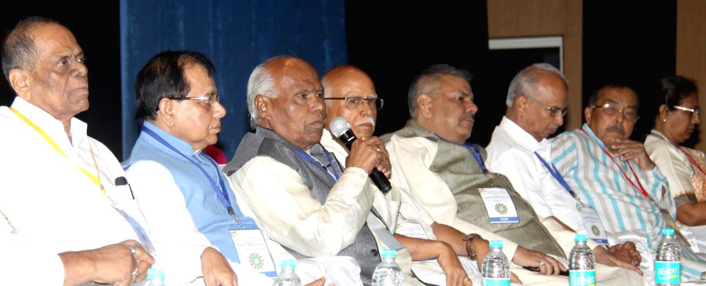 INTUC national President Dr Sanjeeva Reddy addresses during party's working committee meeting, in Bengaluru on June 17, 2016. - Sanjeeva Reddy